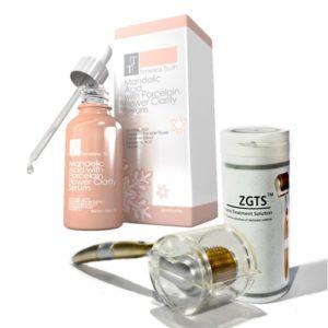 Mandelic Acid with Porcelain Flower Clarity Serum 30ml ZGTS Derma Roller Combo