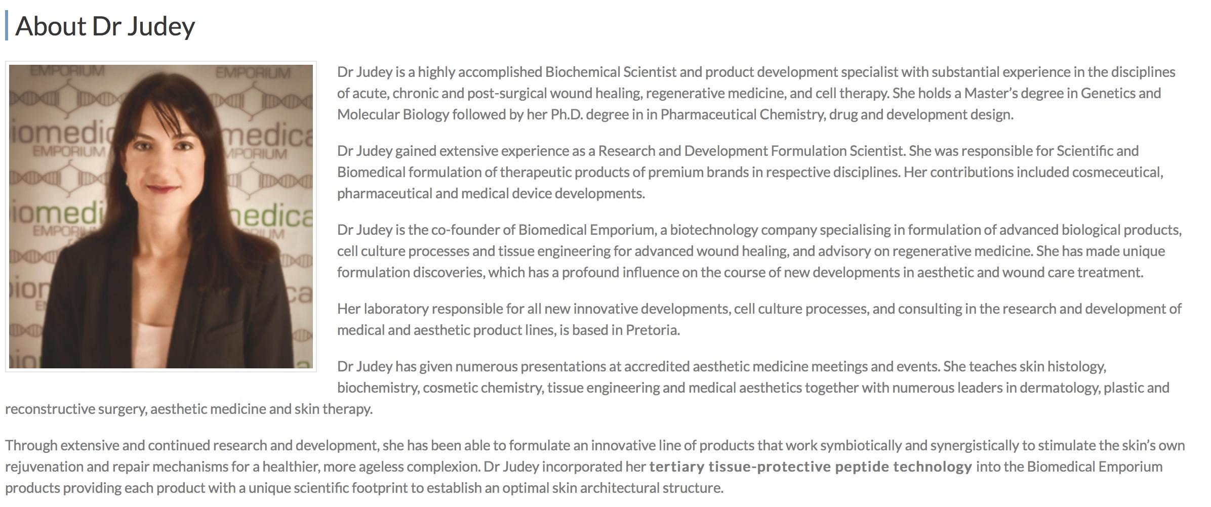 Biomedical Dr Judey