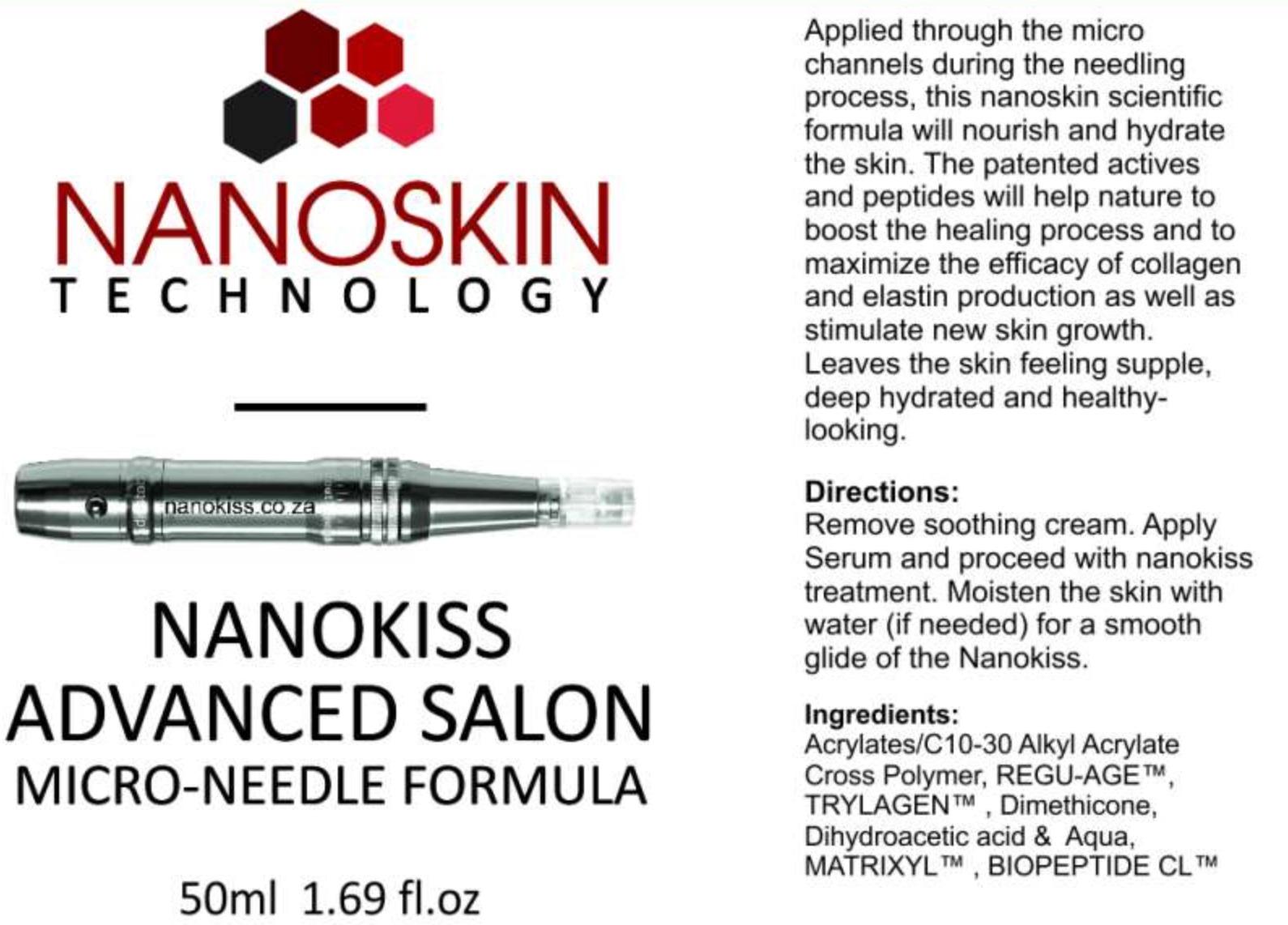 Nanoskin microneedling formula