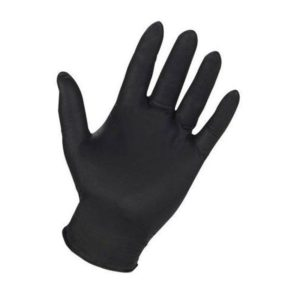 Titan black nitrile gloves