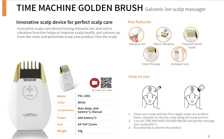 VANAV Time Machine Golden Brush